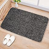 Large Indoor Doormat Super Absorbs Mud Latex Backing Non Slip Door Mat for Front Door Inside Floor...