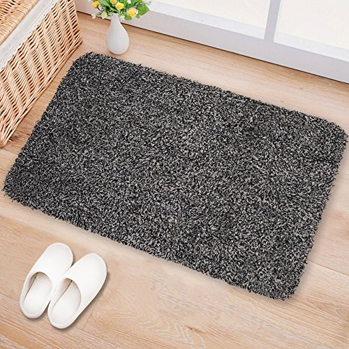 "Deer Tray (Large Indoor Doormat Super Absorbs Mud Latex Backing Non Slip Door Mat for Front Door Inside Floor Dirt Trapper Mats Cotton Entrance Rug 24""x36"" Shoes Scraper Machine Washable Carpet Black White Fiber)"