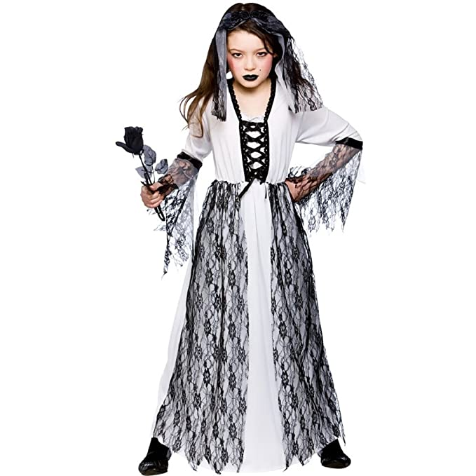 e5be7ce11183 Ghastly fantasma sposa per bambini Halloween   Carnival Costume Taglia L  8-10 anni (134-146cm)  Amazon.it  Sport e tempo libero