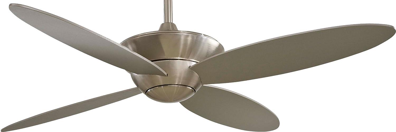 minka aire f514bn zen brushed nickel 52inch ceiling fan with light u0026 remote control amazoncom - Minka Ceiling Fans