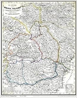 Historische Karte Moldau Walachei Siebenburgen Mit Bessarabien