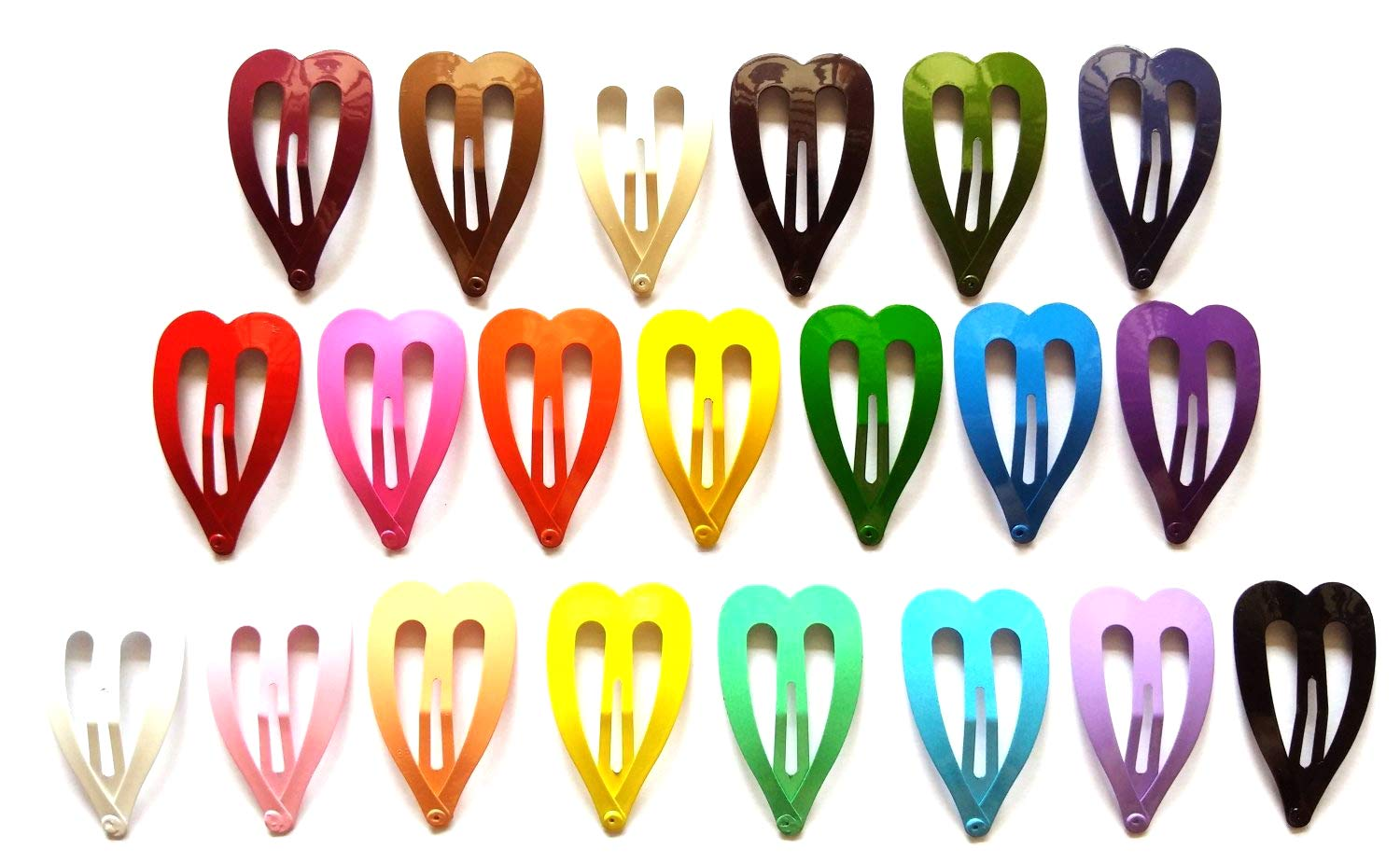 """12 Pack Ribbons Bows Hair Clamp Claw Clips 6 Assorted Bright Colors 2.5/"""" x 2/"""""""