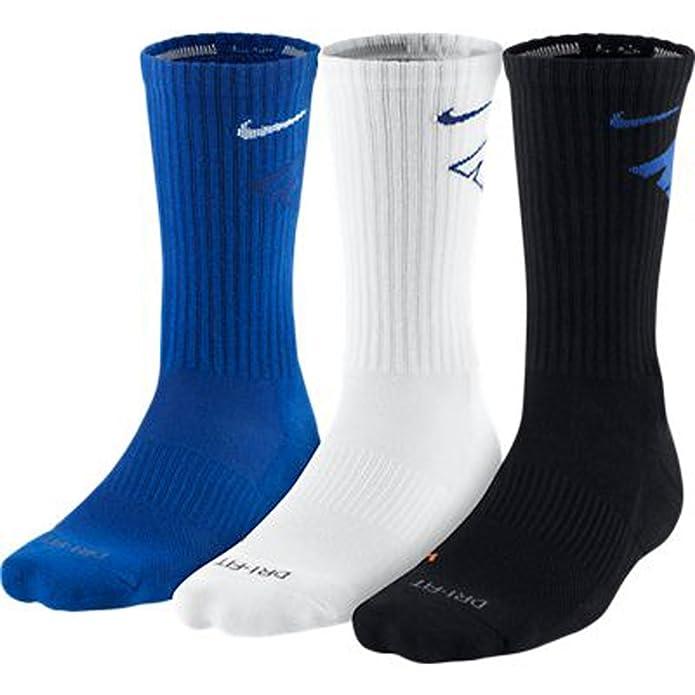 fc43292ce Amazon.com: Nike Men's Dri-Fit Crew 3-pack Socks SX4689-944 Size: M:  Clothing