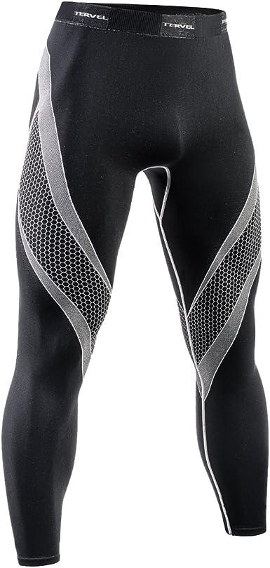 Tervel Mens Optiline Running Shorts Black//Light Grey