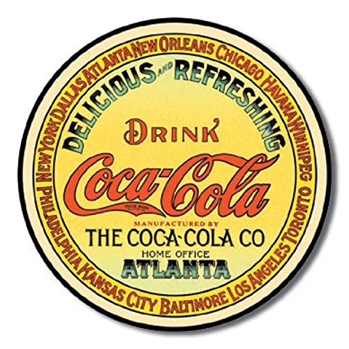 COKE - Round Keg Label Food & Beverage Tin Sign 11.75