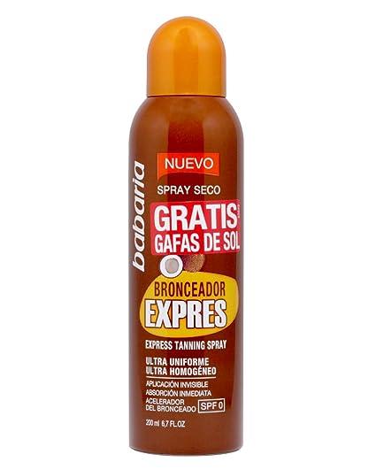 Babaria spray seco bronceador express 200ml + gafas de sol