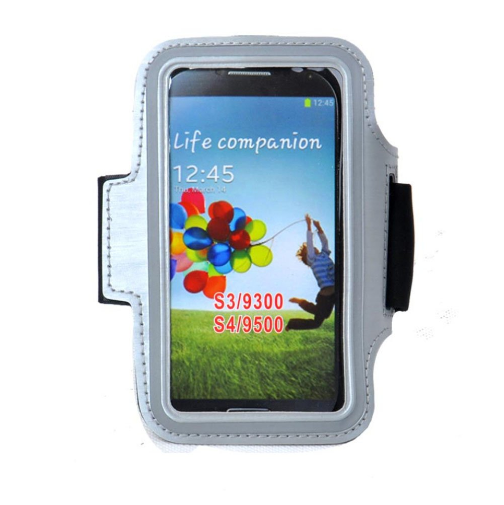 [GRAU] sportliches Armband + Schlüsselhalter für 4,7 bis 5 Zoll-Smartphone Blancho Bedding