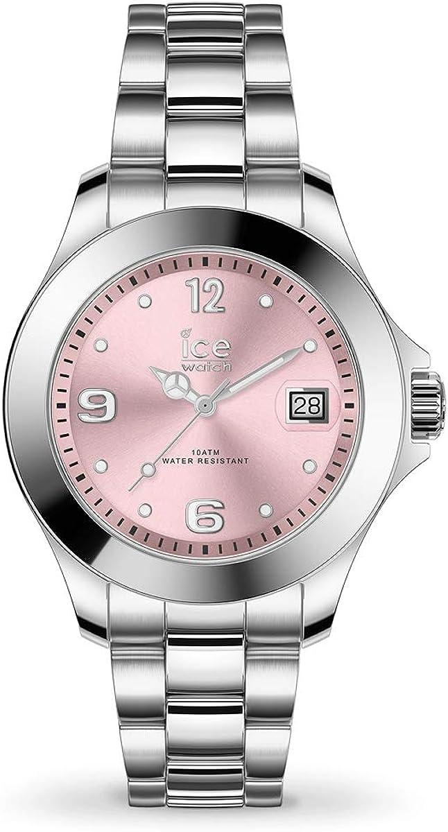 Ice-Watch ICE steel Light pink - Reloj plateado para Mujer con Correa de metal, 017320 (Small)