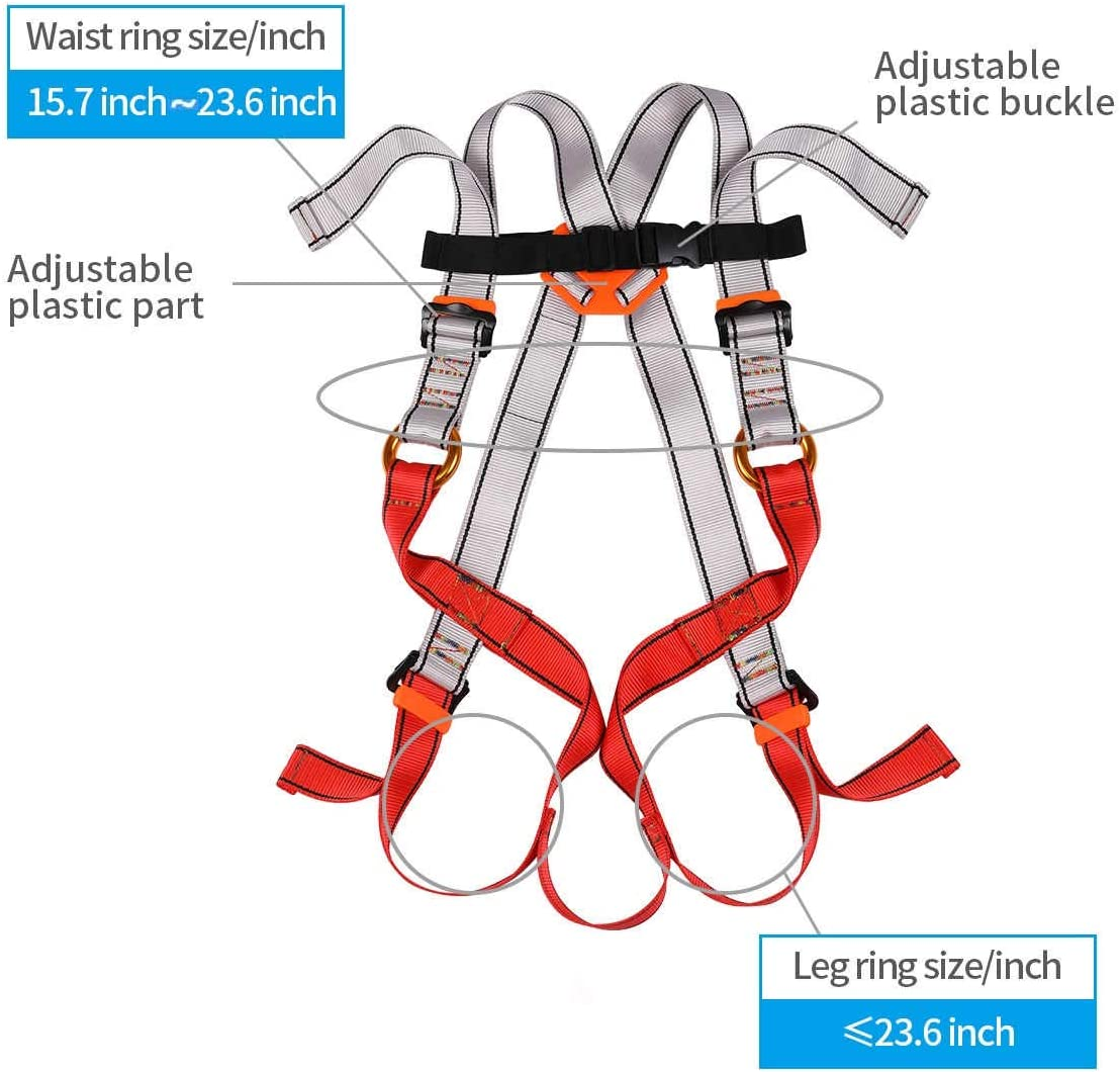 HandAcc Kids Full Body Harness, Youth Climbing Safety Harness Seat Belts for Outdoor Expanding Training Caving Rock Climbing Rappelling Equipment : Sports & Outdoors
