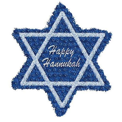 Amscan Deluxe Hanukkah Blue Tinsel Star of David | Party ()