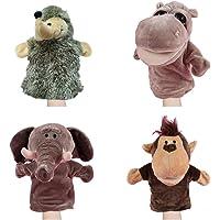 GZQ 4 pcs Títeres de Mano con Animales,Marionetas