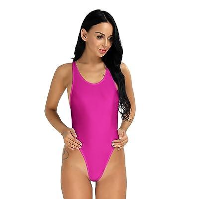 iEFiEL Women Cutout Back One-piece Bodysuit Leotard 1Pc Swimwear