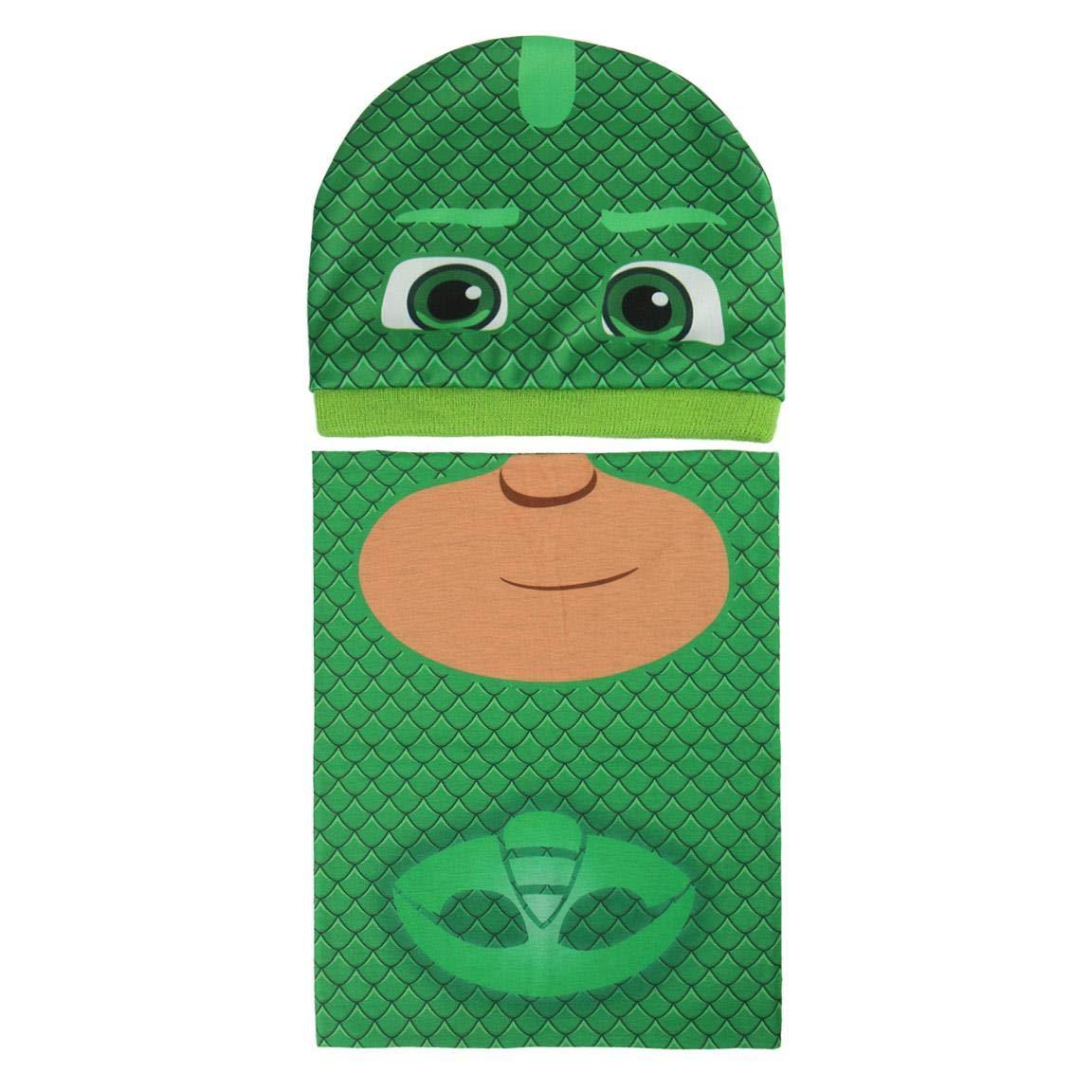 Cerdá Boy's Conjunto 2 Piezas Pj Masks Gekko Scarf, Hat and Glove Set, Green (Verde 001), One Size (Manufacturer Size: Única) 2200003290