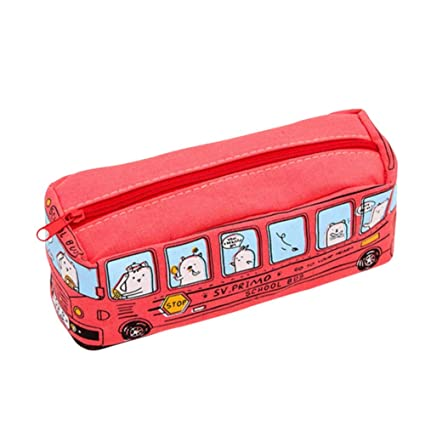 Wongfon Cartoon Bus - Estuche Escolar con Cremallera y Bolsa ...