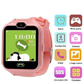 Hangang Reloj (CS05015 Rosa: con Pantalla Táctil, Cámara, Juegos ...