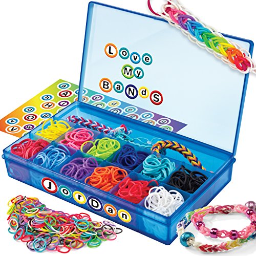 Cra-Z-Art CRA-Z-Loom Ultimate Collector Case with 1800 Rubber Bands, 50 S Clips and Alphabet Sticker Sheet ()