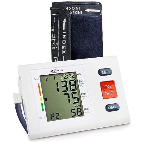 Monitor de presión arterial - Philex de grado médico profesional con pulsómetro y brazo superior automático