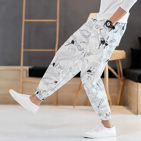 Pantalones Jogger Para Hombre Pantalones De Haren Con Estampado De Moda Para Hombre Pantalones Para Hombre De La Vendimia Pantalones De Jogging De Estilo Chino Pantalones Sueltos Para Hombre Pantalon Amazon Es Deportes Y