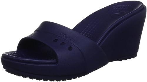 Crocs 14102 Kadee Wedge, Sandali donna, Blue (Nautical Navy), 39.5 EU (UK 5/US 7)