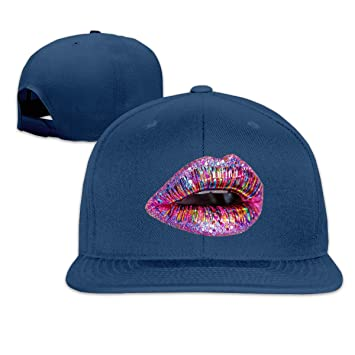 Osmykqe Glitter Lips Ligero, Transpirable, al Aire Libre, Run Cap ...