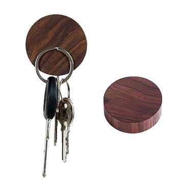 Zmmyr - Llavero magnético de madera con ganchos para llaves ...