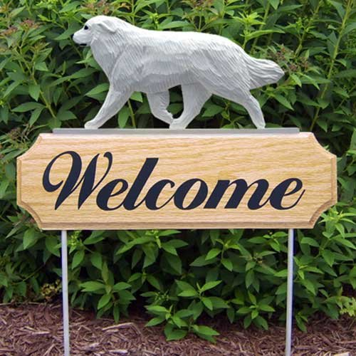 Michael Park Great Pyrenees Dog In Gait Welcome Stake (Great Pyrenees Welcome Sign)