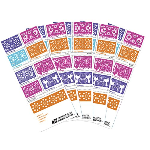 Colorful Celebration USPS Forever Postage Stamps Booklet of 20 Self-Adhesive (5 Booklets of 20 Stamps) Weddings, Parties, etc.