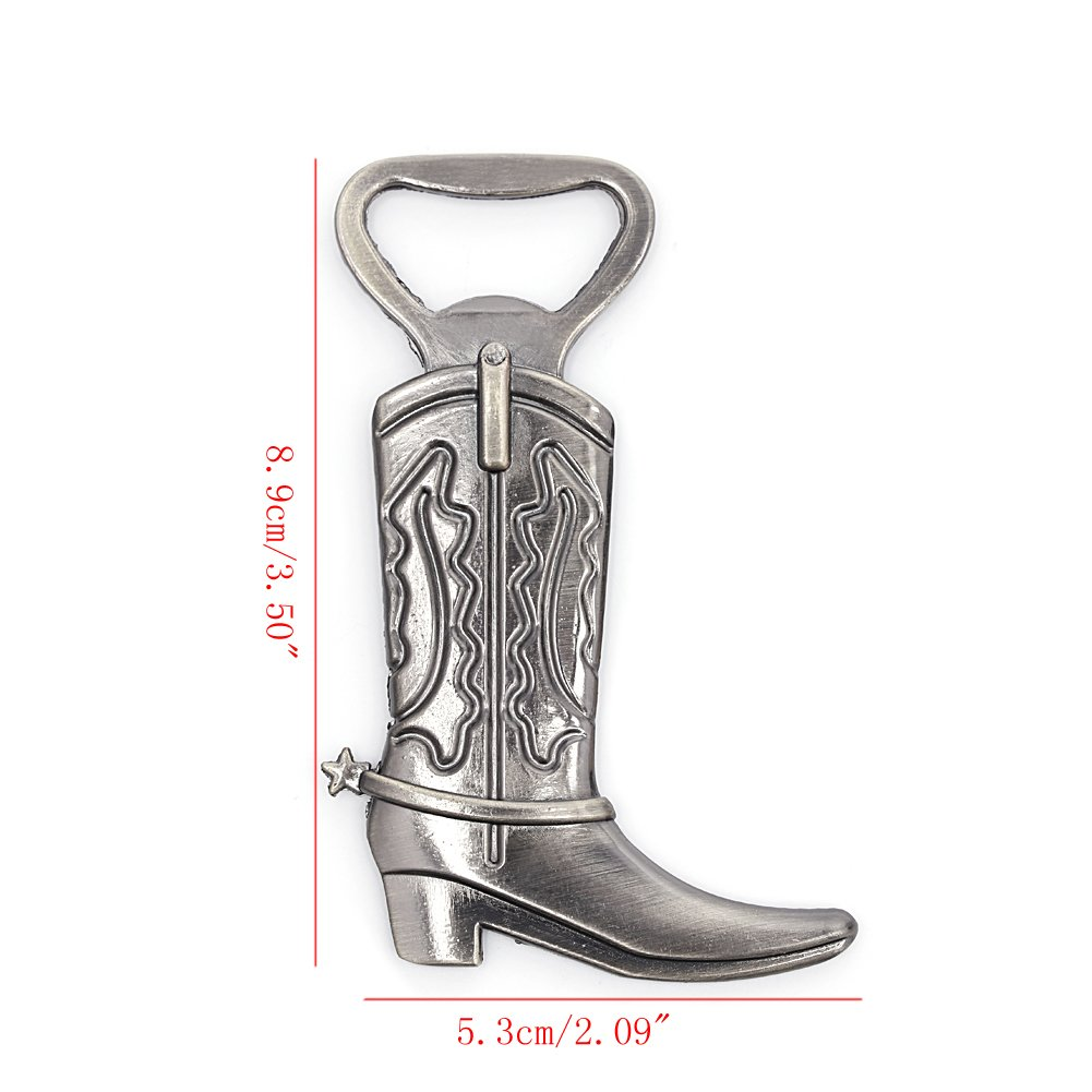 Yaonow Just Hitched cowboy Boot apribottiglie western Birthday wedding favor party