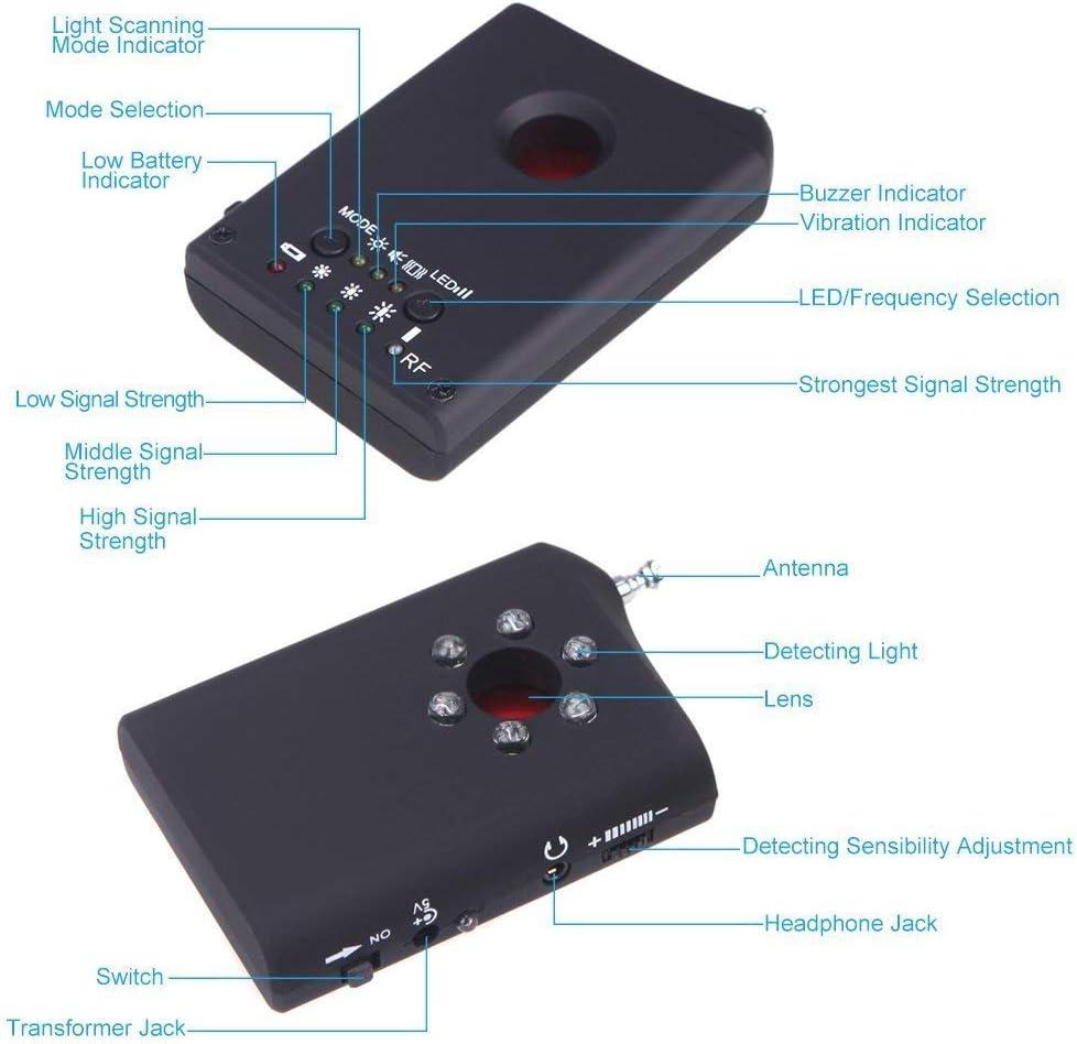 ZHITING-Anti-spy Signal Bug Wireless RF GSM Bug Voice Bug Detector Detector de c/ámara oculta encubierta