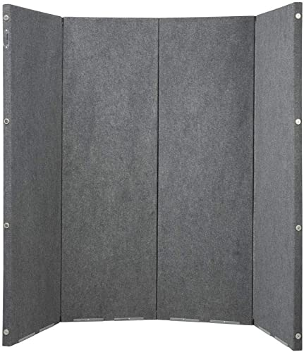 VERSARE Versifold Acoustical Room Divider – Folding Partition Panel Sound Reducing Screen Office Divider Gray 8 x 6.6