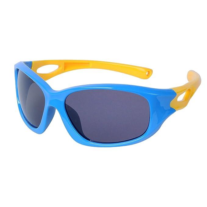 JoXiGo Flexible Gafas de Sol Deportivas Polarizadas UV400 Niño y Niña (3-12 años)+ Correa de Gafas + Fundas