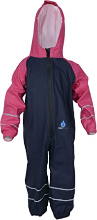 Dry Kids PU Coated Waterproof and Hard Wearing All in One Rainsuit for Boys and Girls