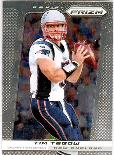 new product 48972 710c4 Tim Tebow football card (New England Patriots QB) 2013 Prizm ...