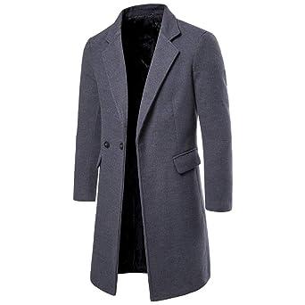 Giacca da Uomo Vintage,Cappotto Trench Casual Moda Business