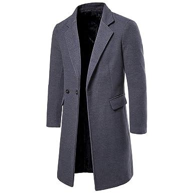 Tosonse Blazer Abrigo Casual para Hombre Abrigo De Trinchera Moda ...