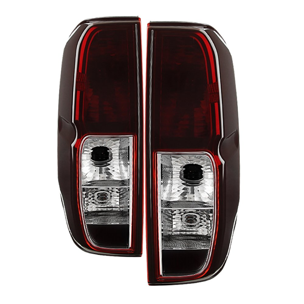 vipmotoz smoke red lens oe style tail light lamp assembly for 2005 2014 nissan frontier driver passenger side