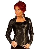 Luxury Black Leather Dress Short Jacket BG9