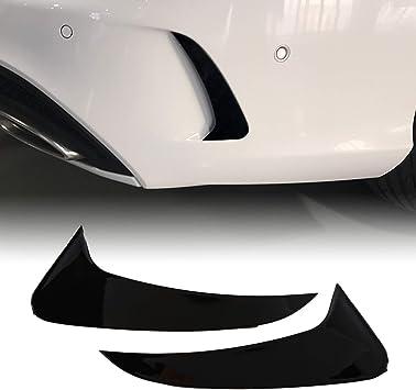Huante Helles Schwarz Heck Stoßstange Spoiler Seite Canards Für Mercedes C Klasse Kombi S205 C180 C200 Amg Auto