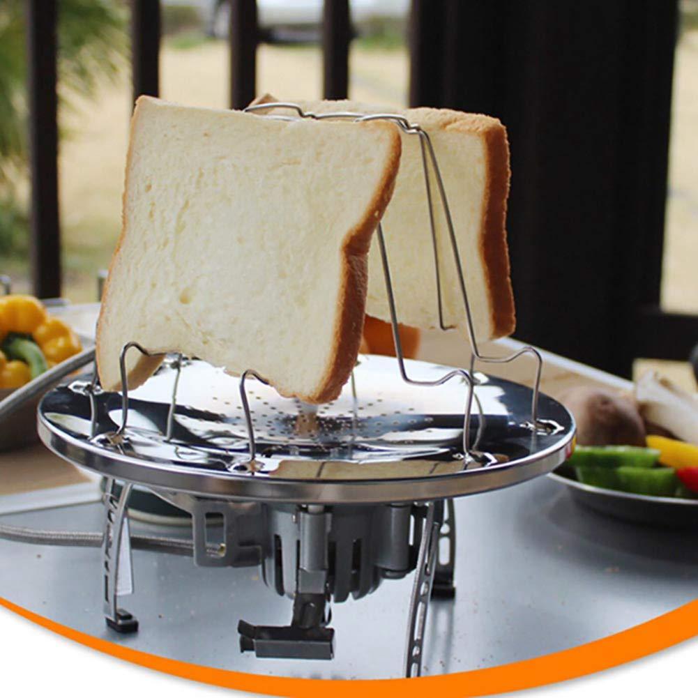 OPSLEA Plegable Toast Rack Camping Campamento Estufa tostadora de Acero Inoxidable Tostadas Desayuno Hornear Rack para Acampar Picnic al Aire Libre