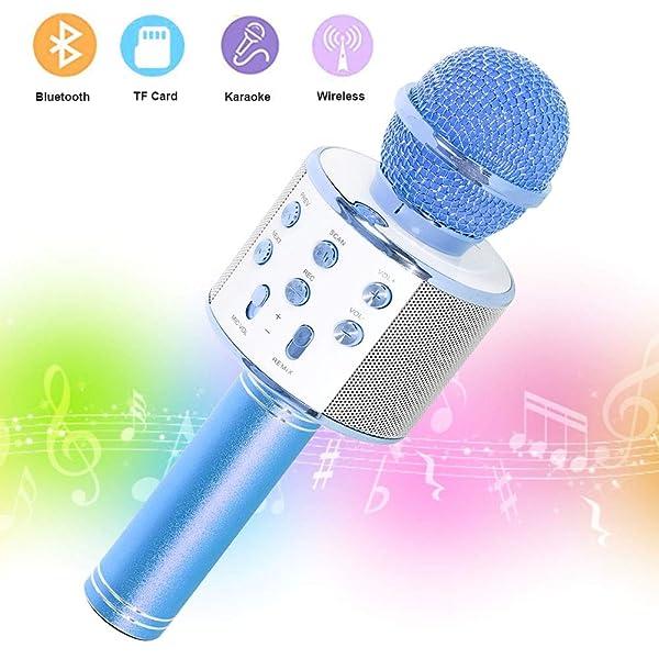 SaponinTree Micrófono Karaoke Bluetooth, 3 en1 Microfono ...