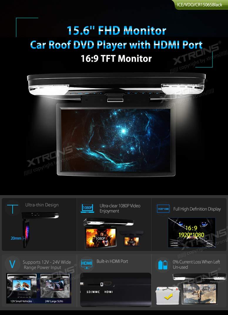 XTRONS® 15.6 inch Pantalla panorámica de vídeo de 1080p HD ...