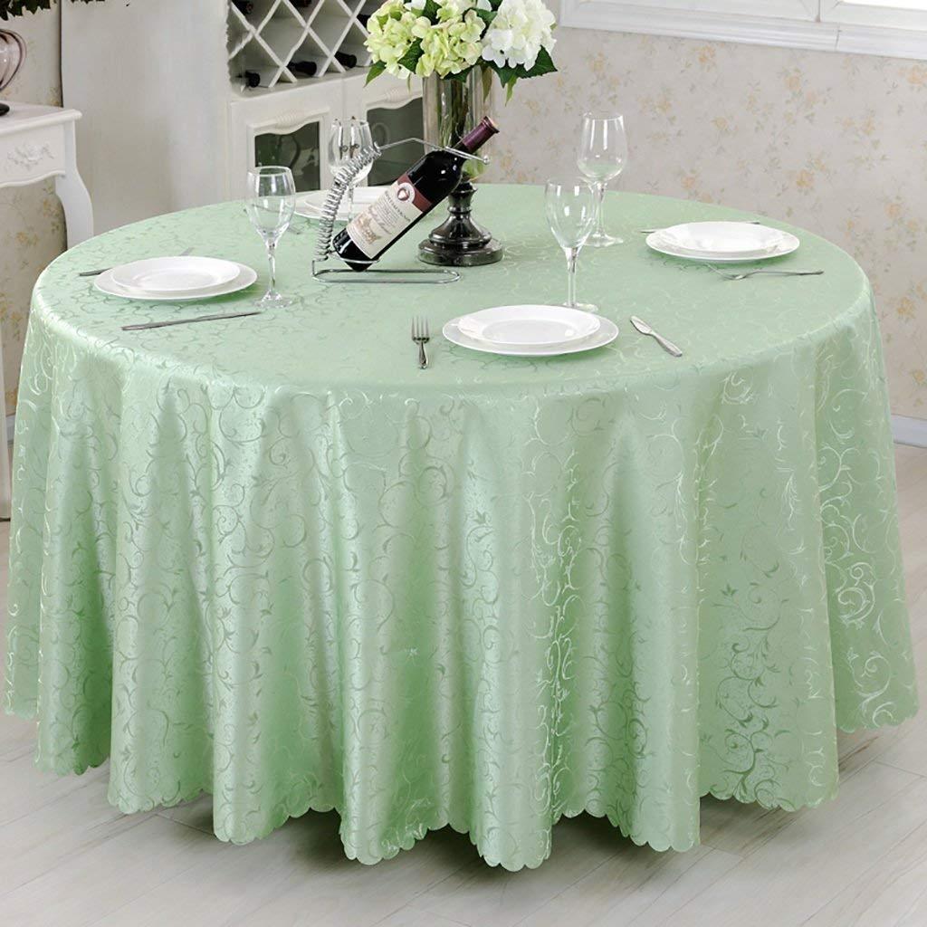 Shuangdeng テーブルクロス、ポリエステルテーブルクロス、鮮やかな緑色の花フックラウンドテーブルクロスユニークなパーティーディナーテーブル、レストランに最適、カフェ、ホテル、ヨーロピアンスタイル (サイズ : Rond-380cm) Rond-380cm  B07SCXQDFL