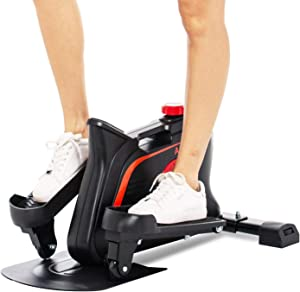 fannay Elliptical Machines for Home Use, Mini Compact Strider Elliptical,Under Desk Elliptical Trainer Built-in Display Monitor & Magnetic Smooth Quiet Driven for Home Office Cardio Training-