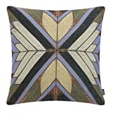 TRENDIN Decorative Throw Pillow Covers for Couch, Sofa, or Bed 18 x 18 inch Cotton Linen Vintage Distressed Wood Design PL189TR