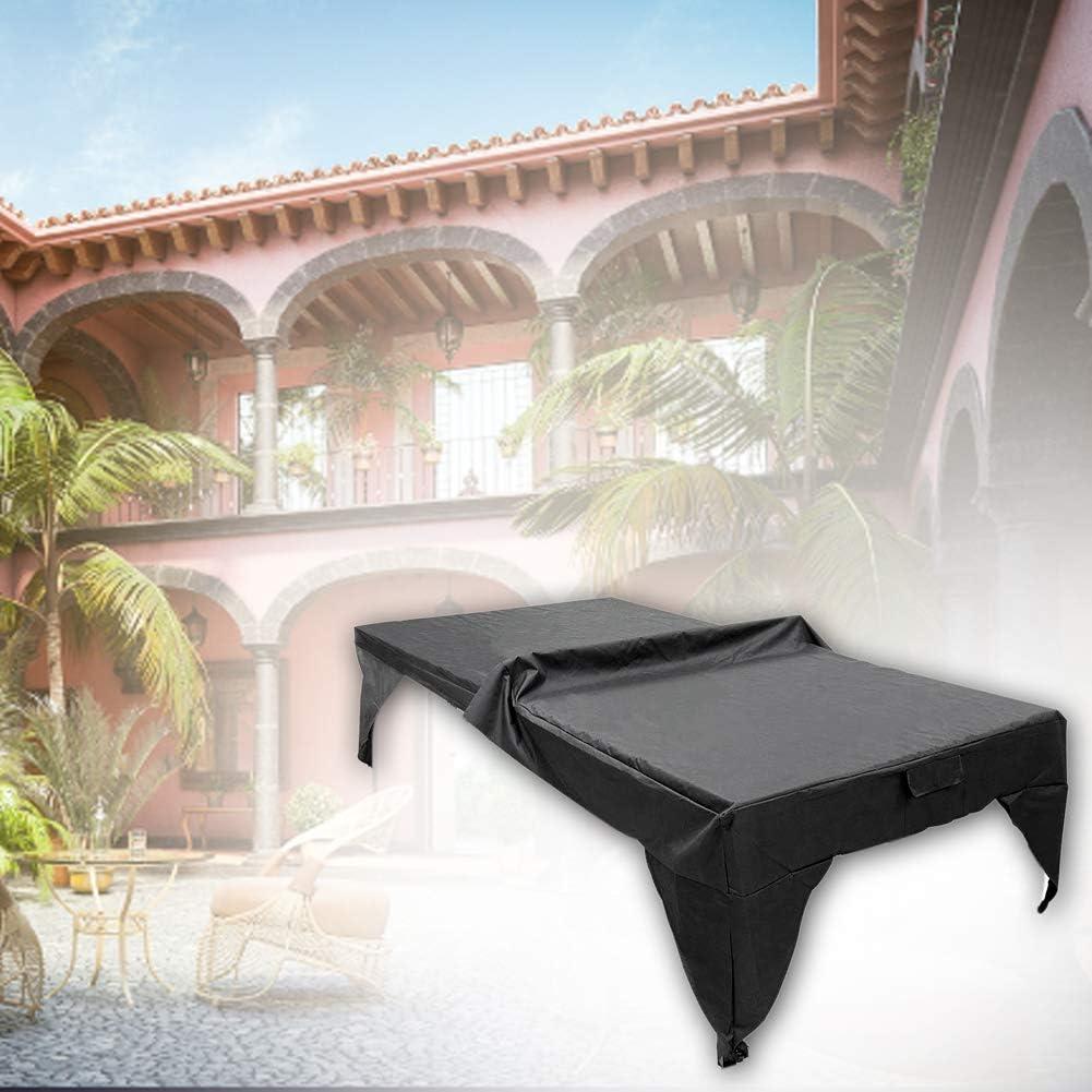 Pingpong Table Cover Yard Todo el año Ligero Plegable A Prueba Polvo Exterior Impermeable Lámina Protectora Práctico Fácil Limpiar Zona Juegos Resistente al Desgaste Interior(Negro)