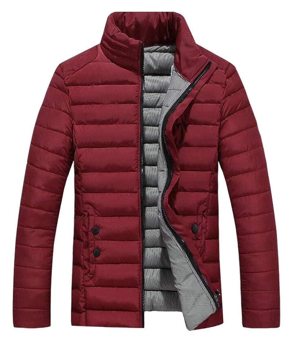 ouxiuli Mens Packable Stand Collar Zip up Down Puffer Jacket Coat