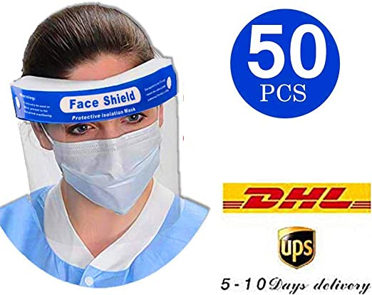 Fast Delivery Full Cover Anti Dropiets Face Shi-eld,Anti Fog Splash Breathable Safety Visor Protective Clear Film for Eye