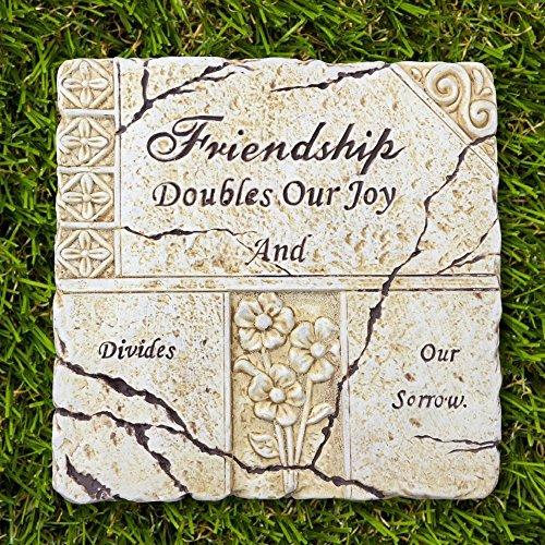 Banberry Designs Friends Garden Stone - Best Friend Saying Poem - Indoors/Outdoors - 7 1/2 X 7 3/4