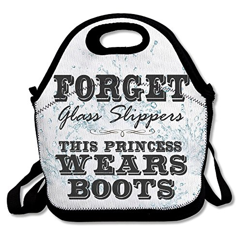 Kkajjhd Forget Glass Slippers Princess Wears Boots Tote Bags