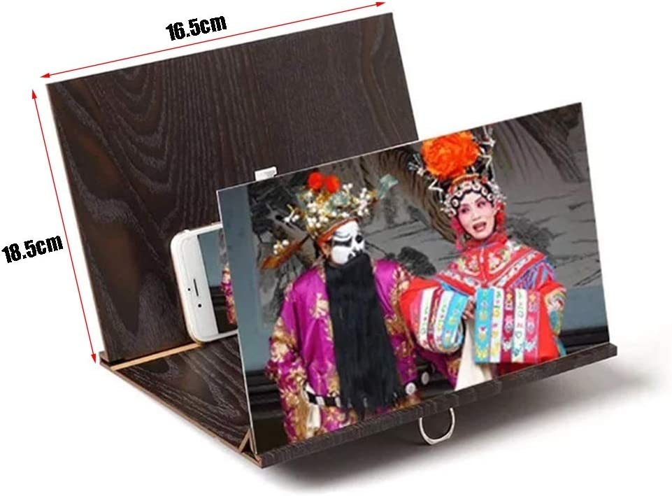 MPSM1 Screen Magnifier Foldable Screen Magnifier,HD Video Anti-Reflective Tape Stand for All Smartphones Color : A